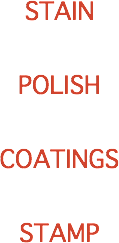 STAIN POLISH COATINGS STAMP